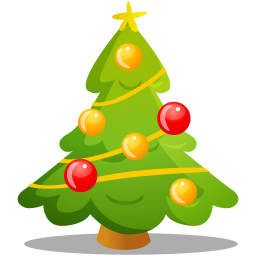 Cute Xmas Tree Icon, PNG ClipArt Image.