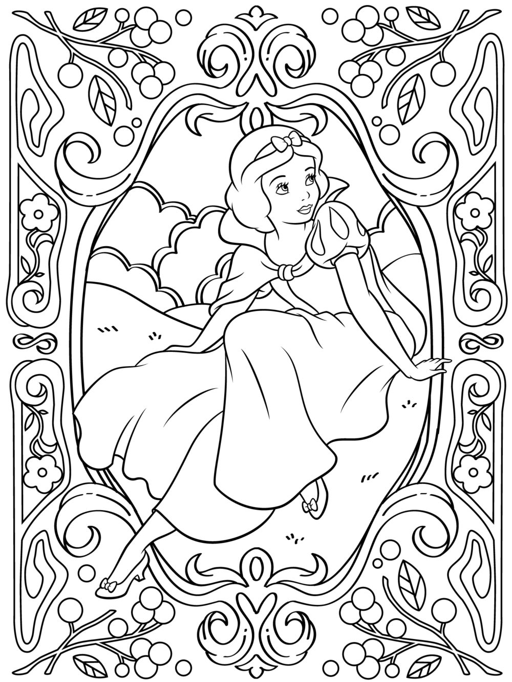 Cute Chubby Clipart Coloring Pages.