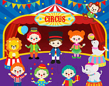 Popular items for cute circus clipart on Etsy.