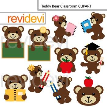 Teddy Bear Classroom Clip Art / back to school clipart.