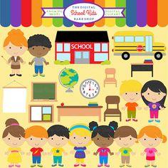 Cute Classroom Clipart.