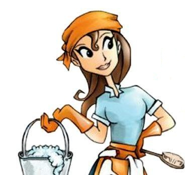Showing post & media for Cute cleaning lady cartoon.