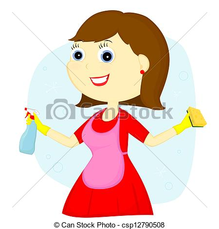 Clipart Of Cleaning Lady.