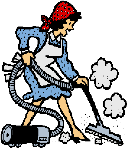 cute cleaning lady clipart #4