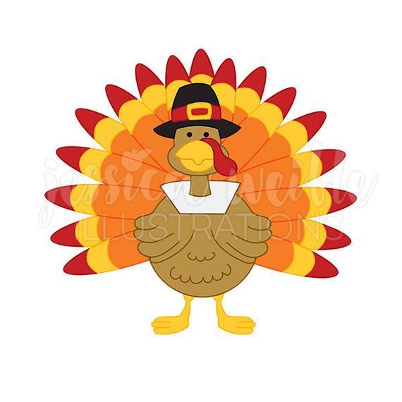 Pilgrim Thanksgiving Turkey Cute Digital Clipart, Cute Turkey Clip art,  Thanksgiving Graphics, Thanksgiving Turkey Illustration, #246.