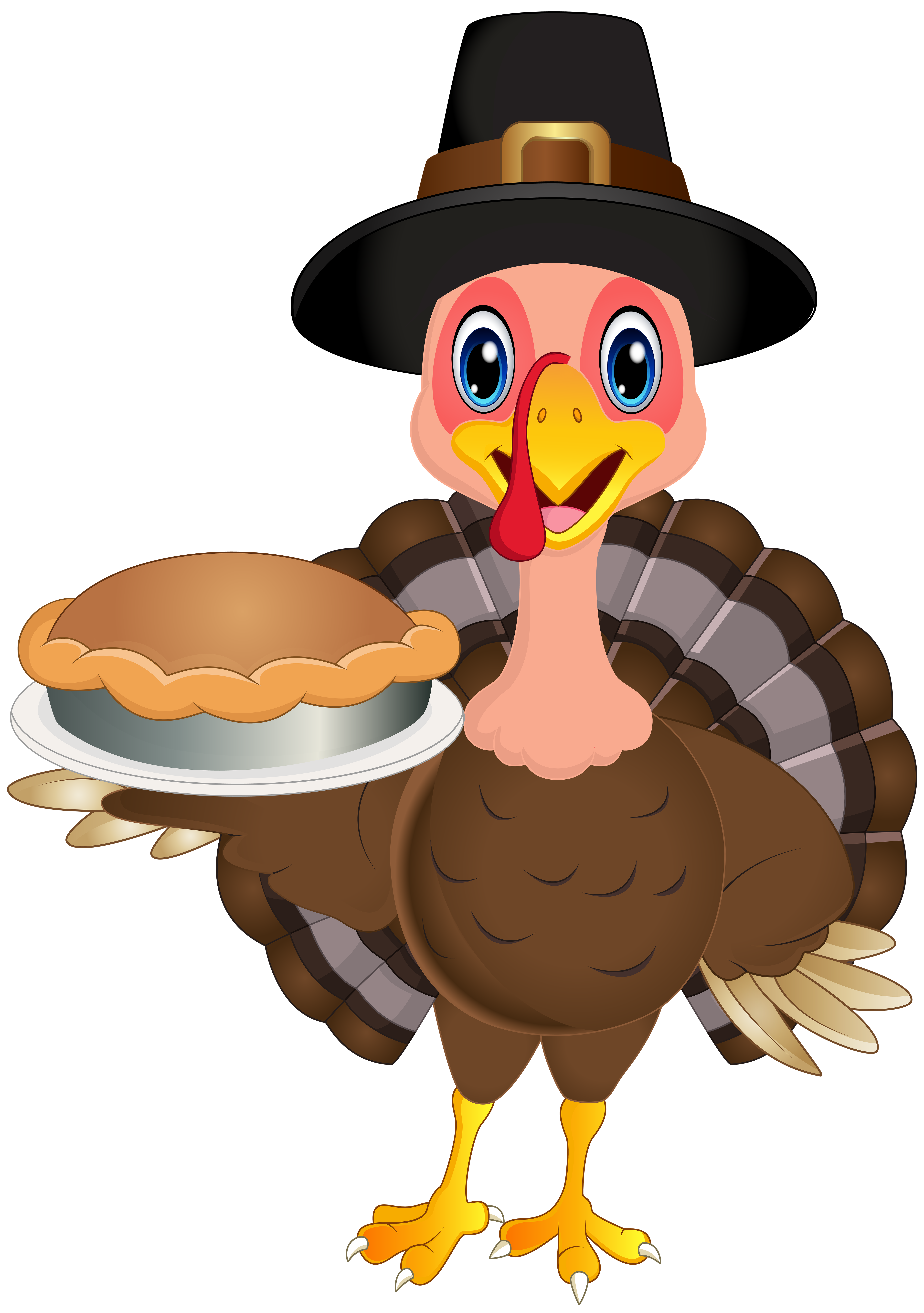 Thanksgiving Cute Turkey PNG Clip Art Image.
