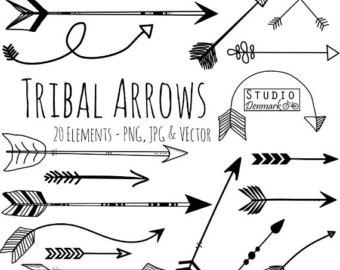 Cute Phrases Arrow Clipart.