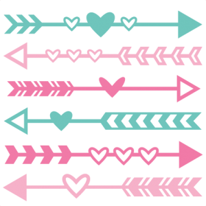 Valentine Arrow Set SVG scrapbook cut file cute clipart files for.