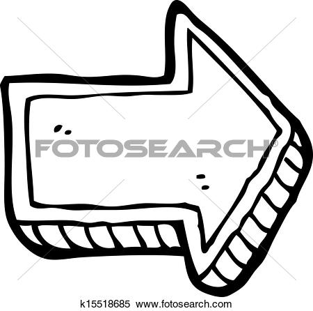 Clip Art of retro cartoon quiver of arrows k15075567.