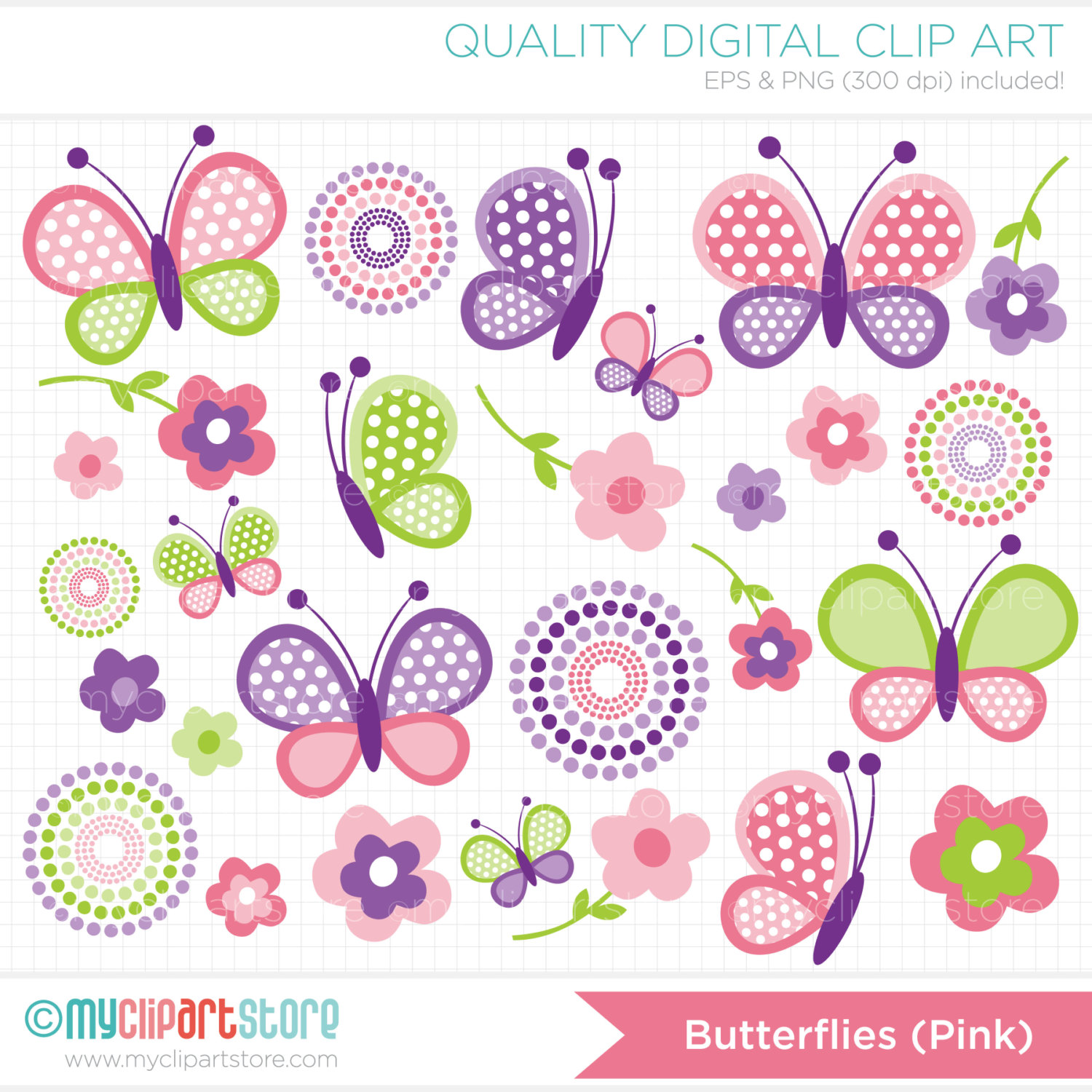 Cute Clipart Butterflies Brown And Pink.