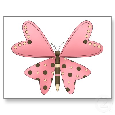 Cute as a Bug · Pink & Brown Butterfly Postcard.