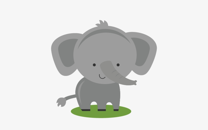 Vector Royalty Free Library Elephant Cute Clipart.