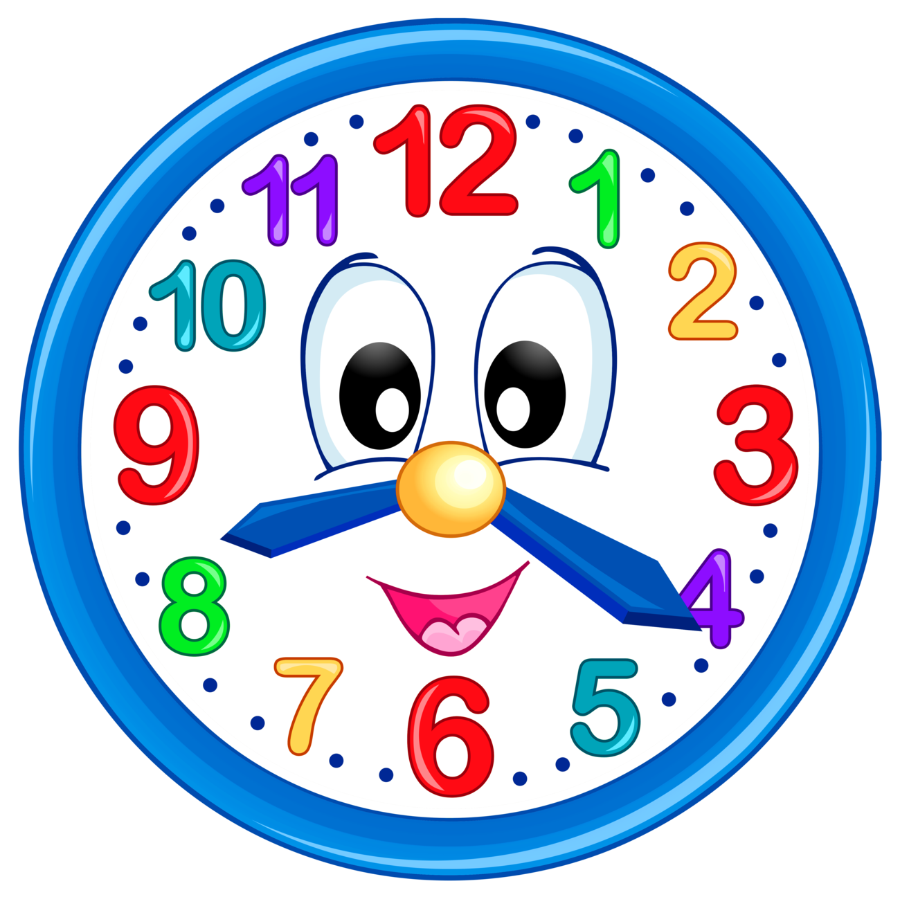 Cute Clock PNG Clip Art For Kids.