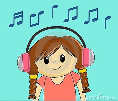 Girl Listening To Music Royalty Free Stock Photography.
