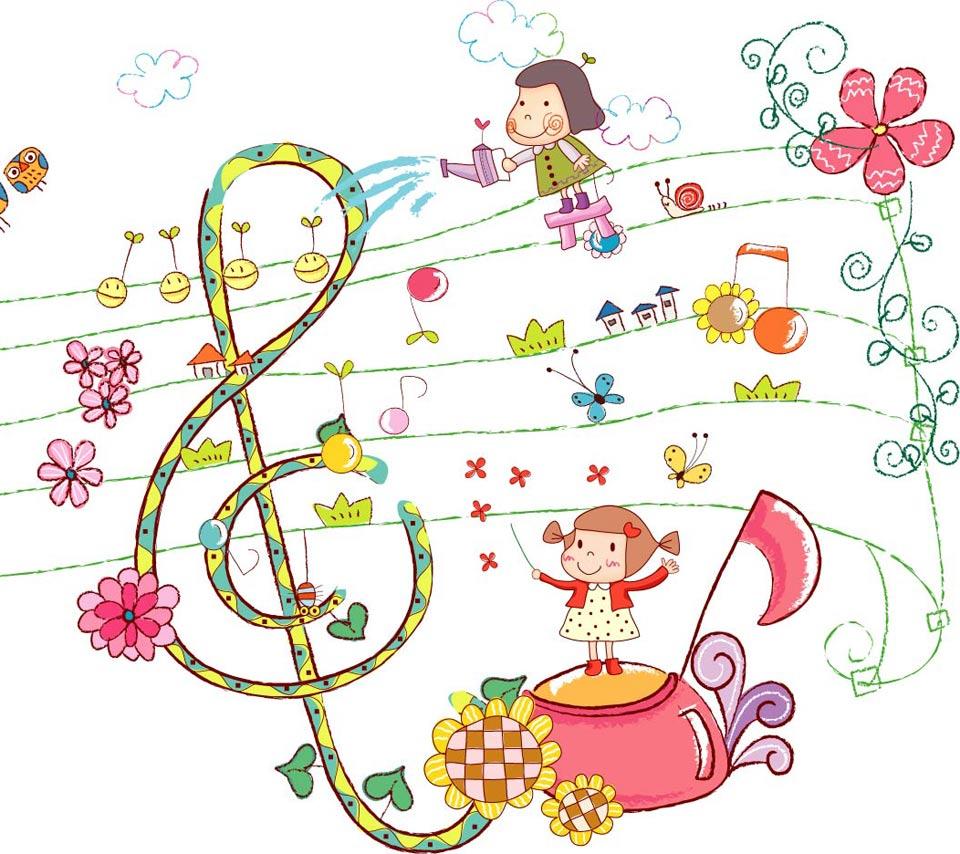 Cute Clipart Girls Music