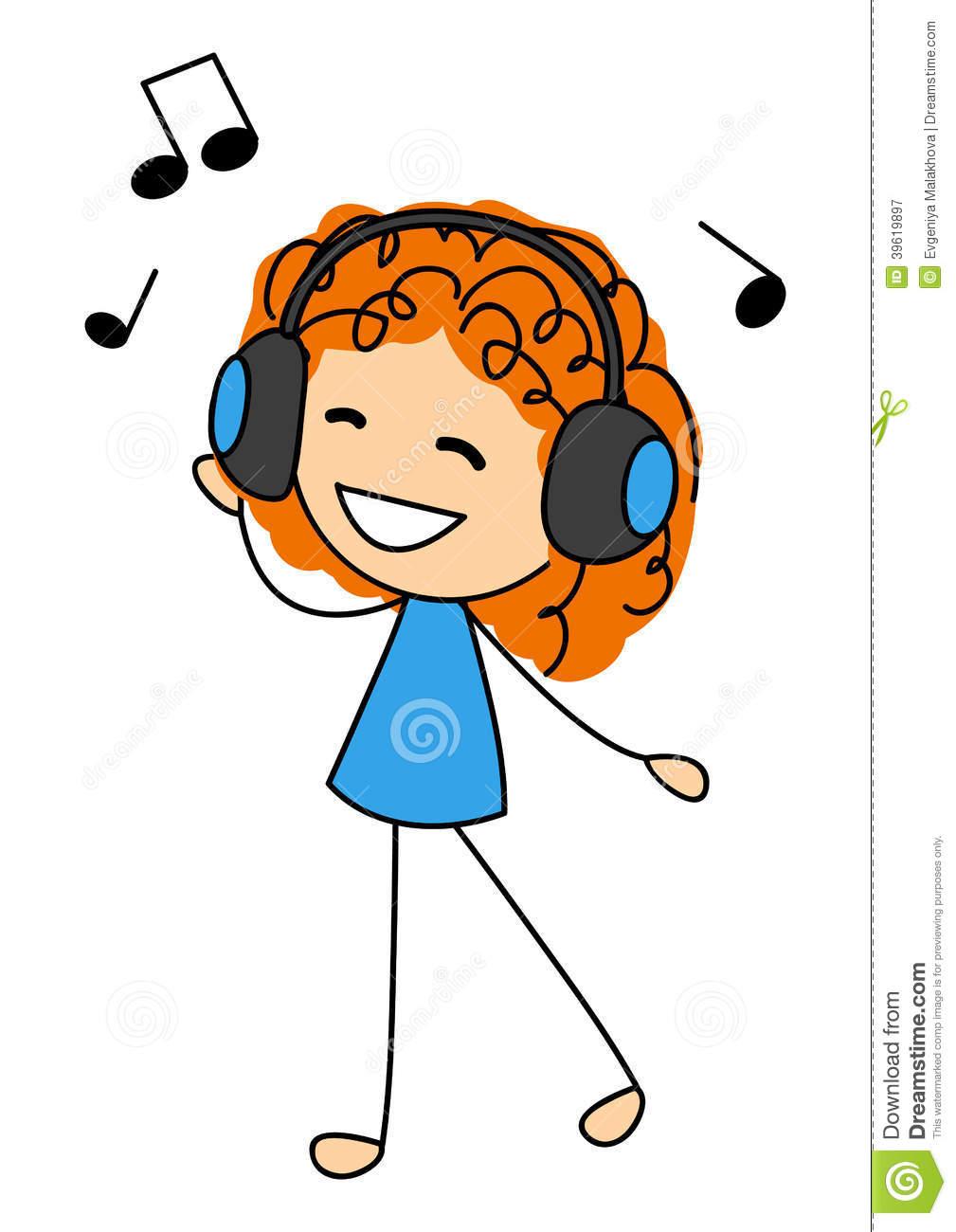 cute clipart girls music - clipground