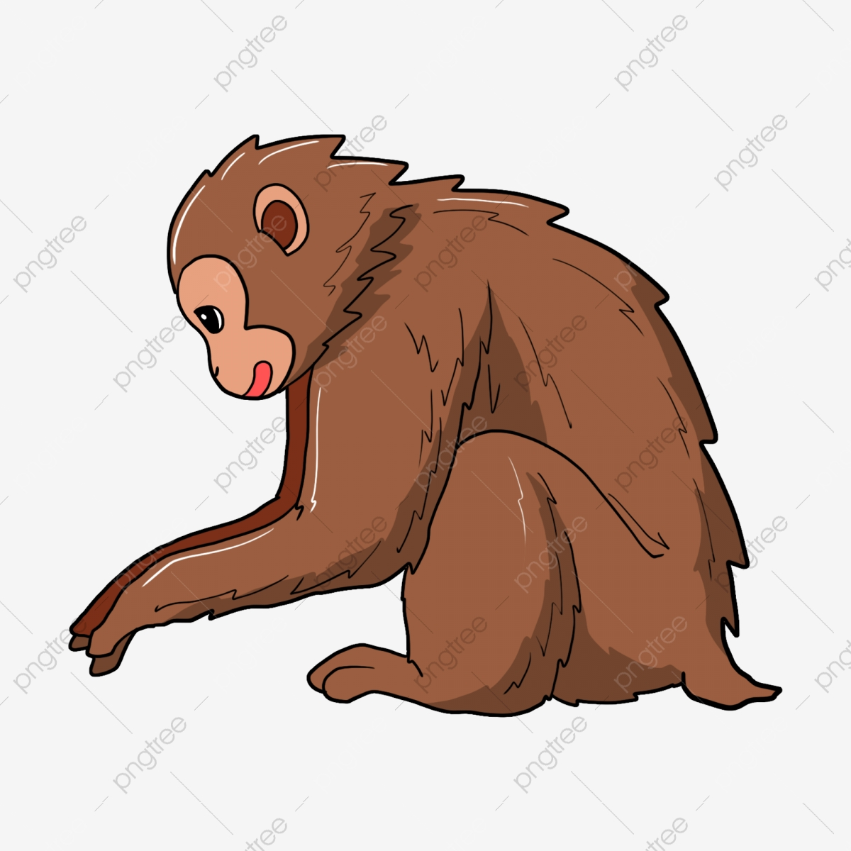 Cute Monkey, Monkey Clipart, Cute Clipart, Monkey PNG Transparent.