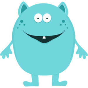 Cute Blue Monster Clipart.