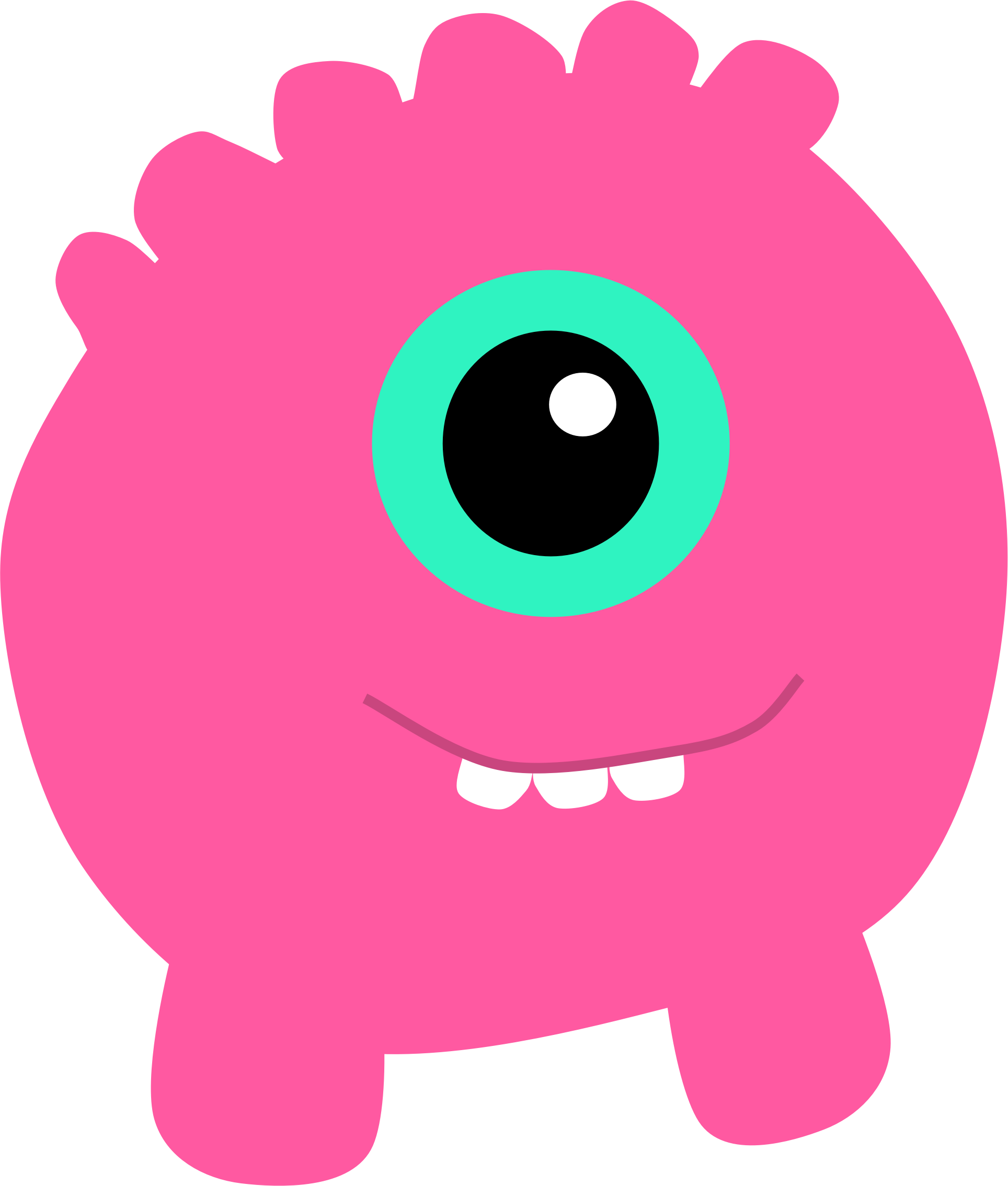 Pink Monster Clipart.