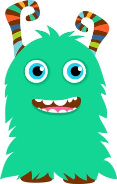 Cute Clip Art Monsters.