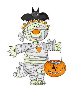 Cute halloween mummy clip art free clipart images image 2.
