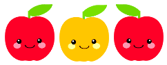 Cute Apple Clip Art.