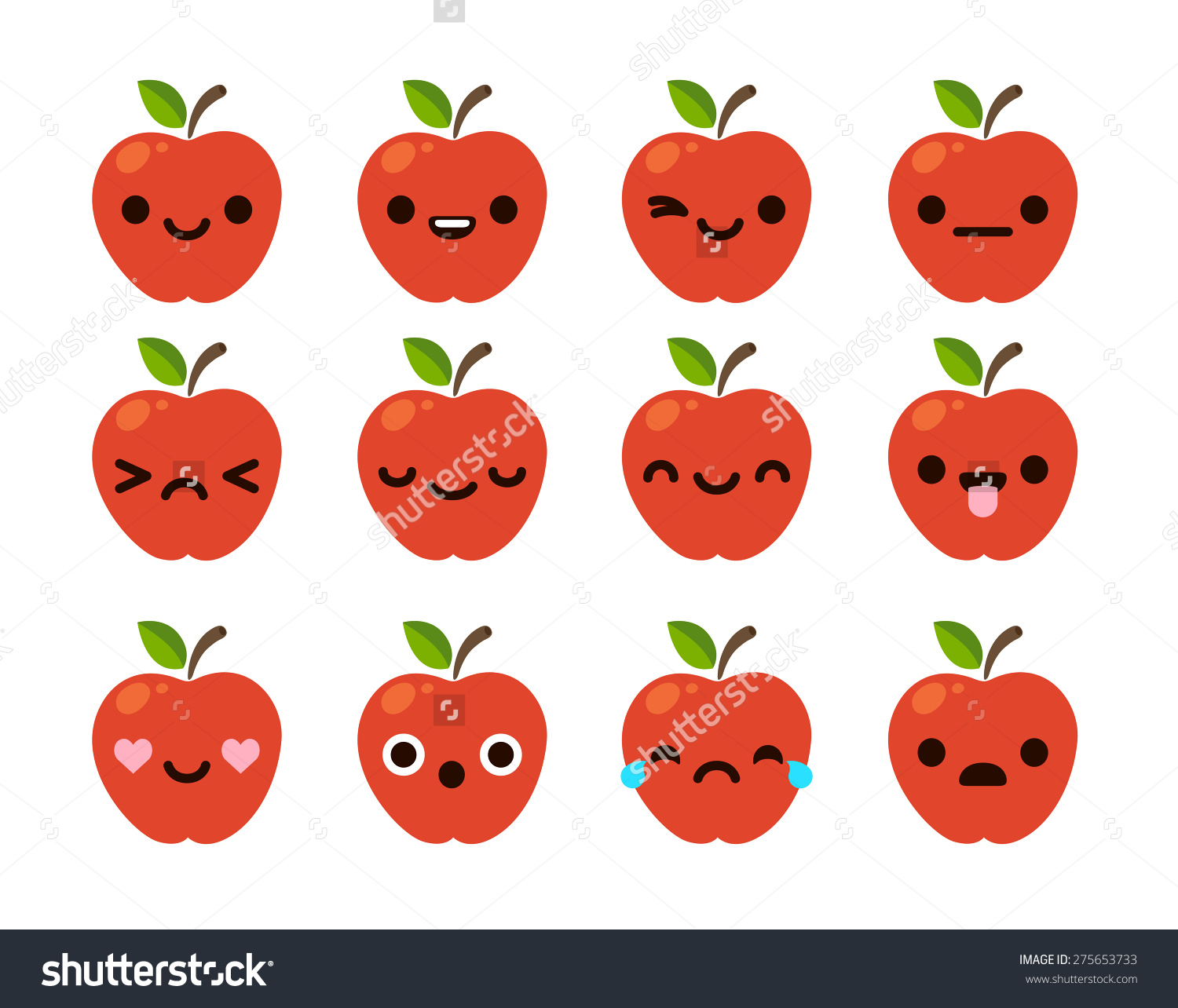 Showing post & media for Red apple cute fruit cartoons.