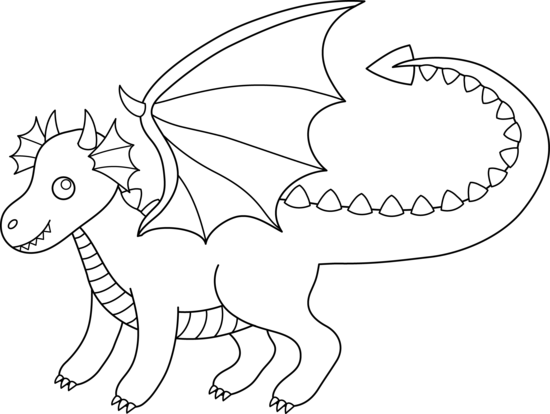 Dragon Outline Clipart.