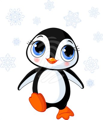 Cool Penguin Clipart.