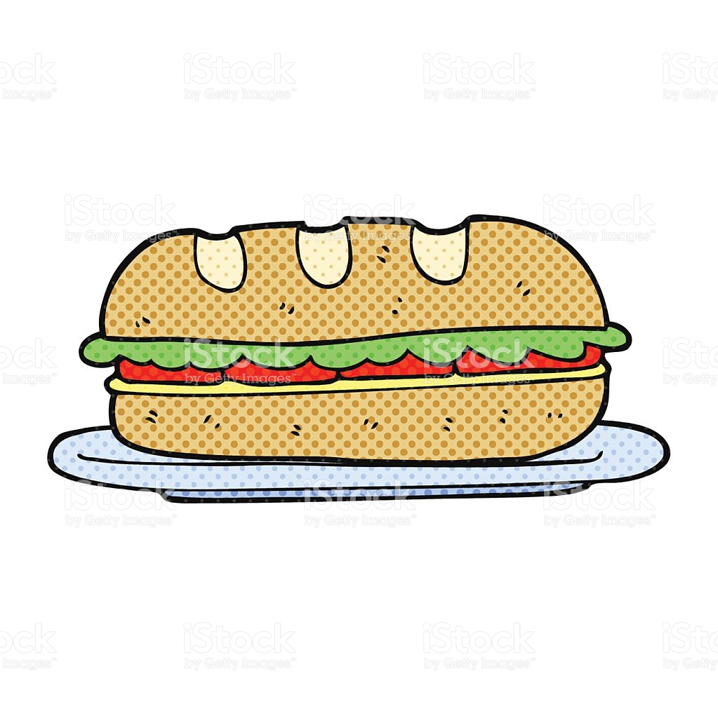 Cartoon Sub Sandwich stock vector art 520053088.