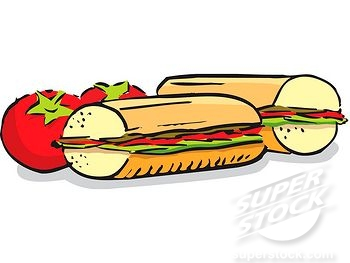 Cute Sandwich Drawing.