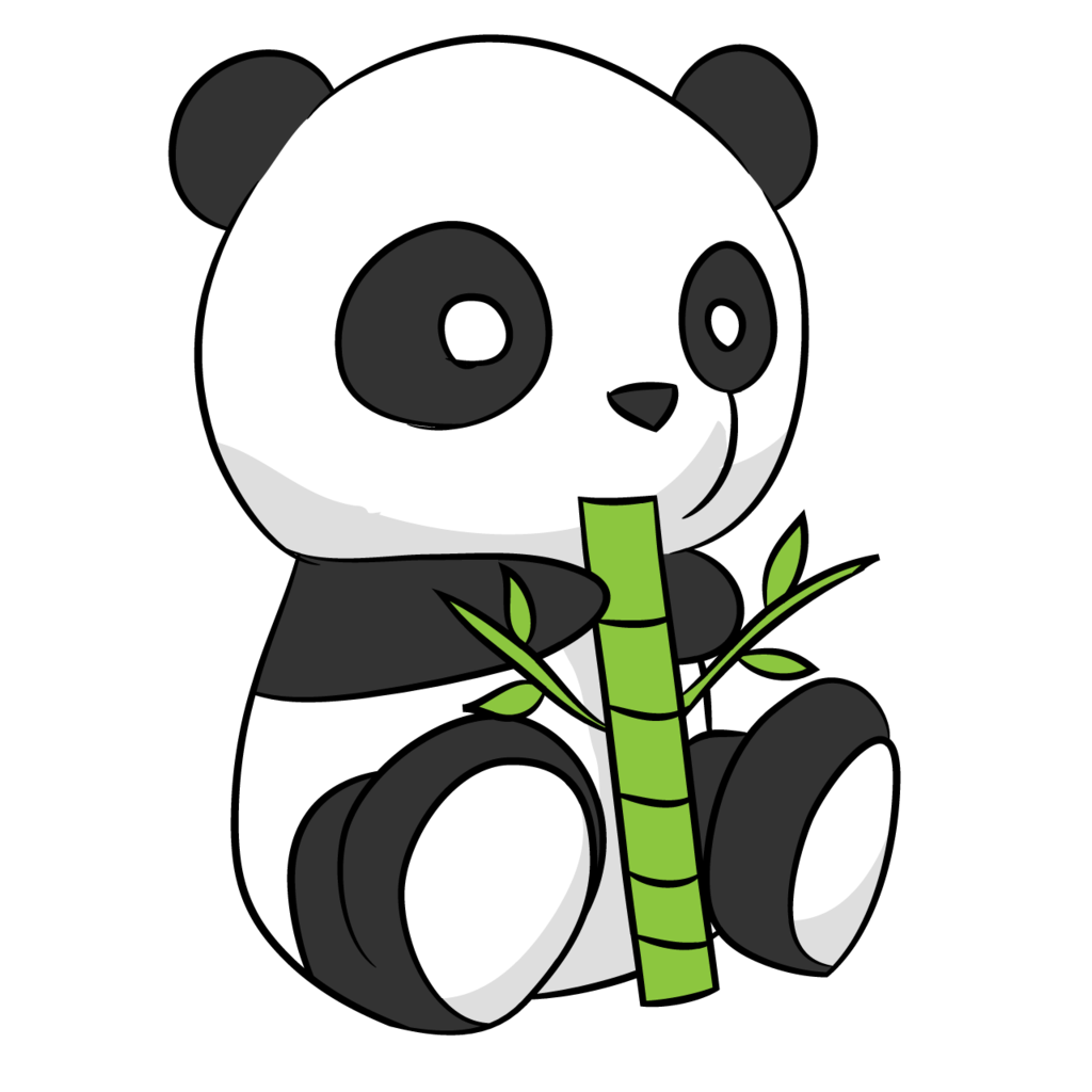 Cute panda drawing by arycarys on Clipart library.