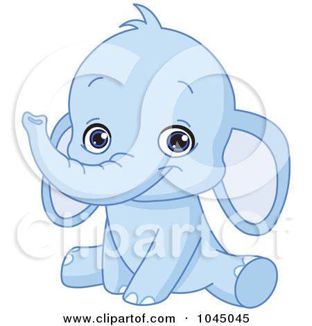 Baby Elephant Clipart To Print.
