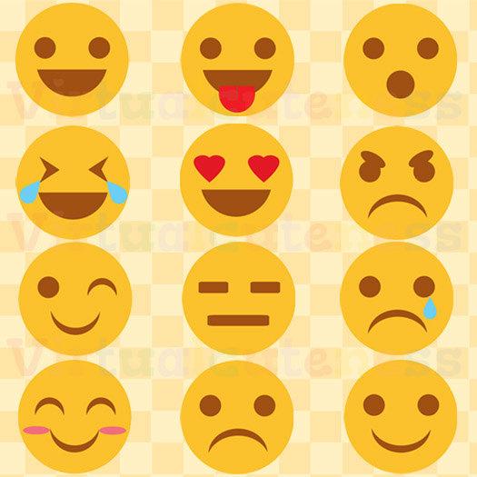 Emoji mignon clipart.