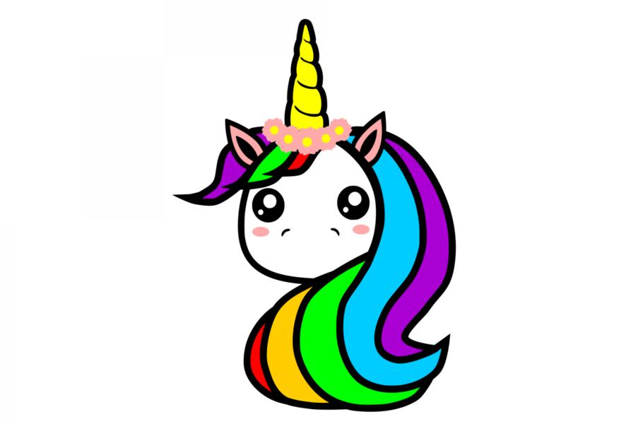 Unicorn Drawing clipart.