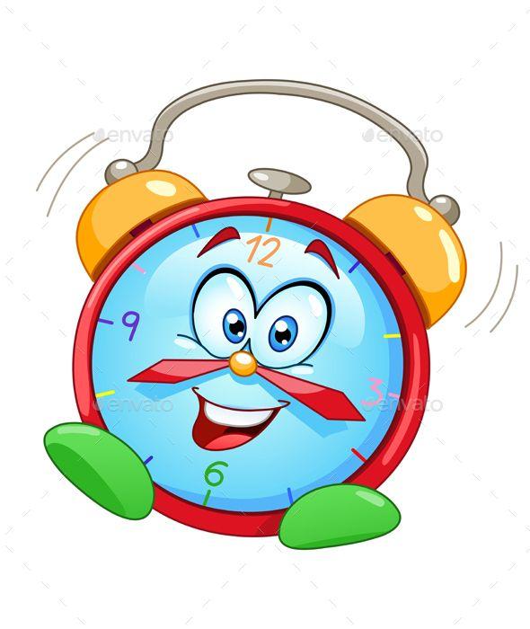 Cartoon Alarm Clock.