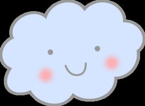 Cute Cloud Clip Art at Clker.com.