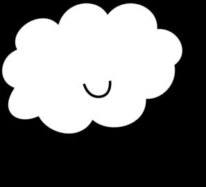 Cute Cloud Bw Clip Art at Clker.com.