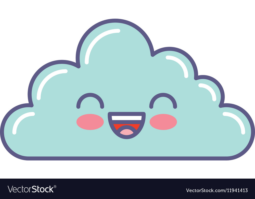 Cute cloud kawaii face.