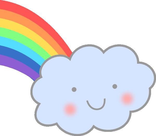 Cute Cloud With Rainbow Clip Art at Clker.com.