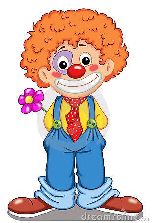 cute circus clown face.
