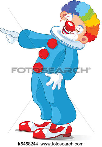 Clipart of Cute Clown laughing k5458244.