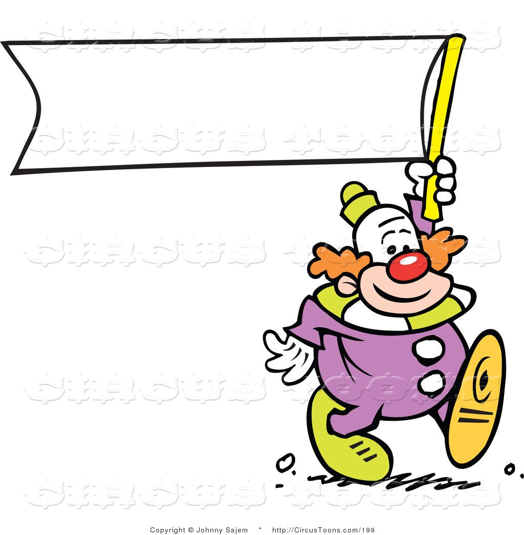 Circus Clipart of a Cute Clown.