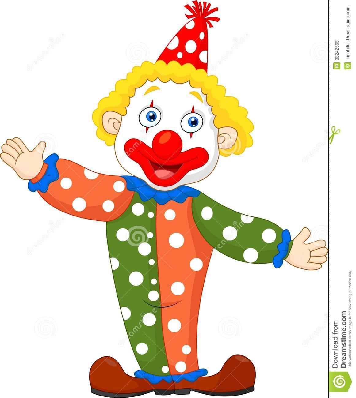 Cute Cartoon Clown Clipart.