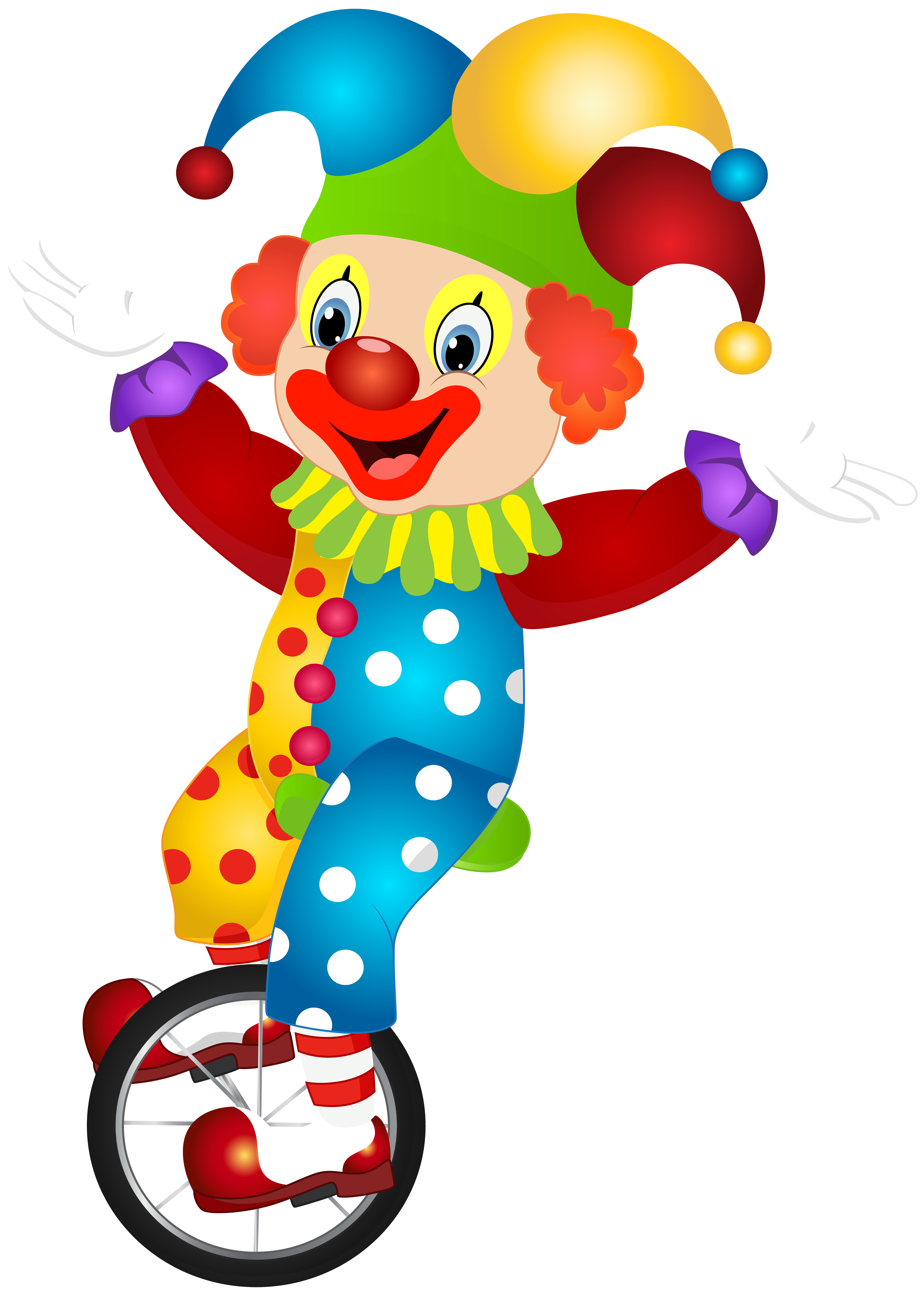 Cute Clown PNG Clip Art Image.