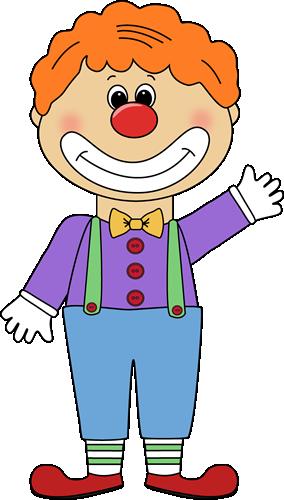 Cute Clown Clipart.