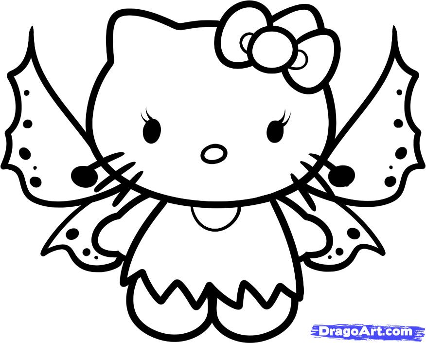 Baby Hello Kitty Coloring Pages.