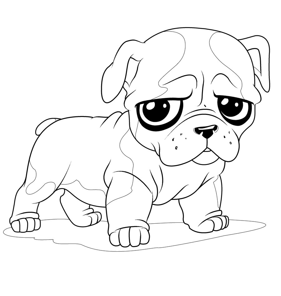 newborn puppy coloring pages to print.