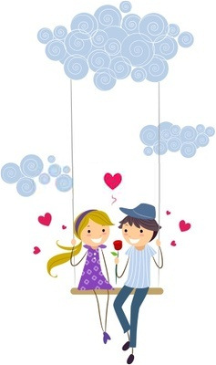 Romantic Cute Couple Clipart.