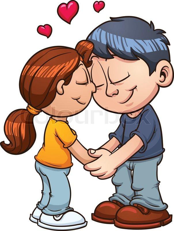 Cute Love Couple Clipart.